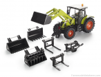 Claas Ares with front loader and accessories