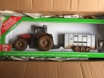 Massey Ferguson 8680 with Ifor Cattle Trailer dirty