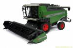 Fendt 5255L combine with grain header