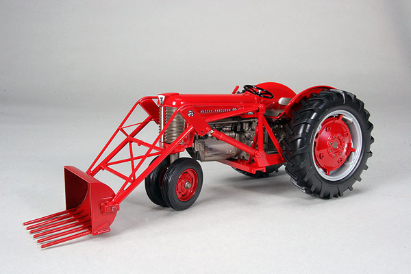 Massey Ferguson 65 Tractor With Loader : Massey ferguson gas with front loader