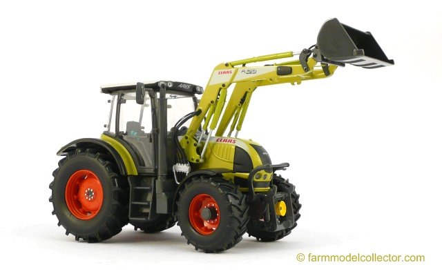 Claas Ares 566 RZ with Claas FL 120 front loader - farmmodeldatabase com